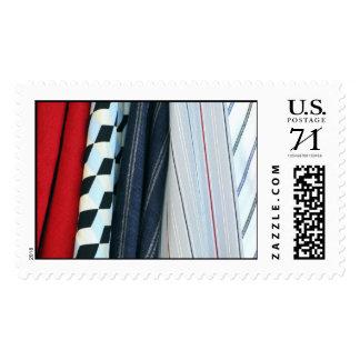 5 telas con los modelos geométricos - grandes timbres postales