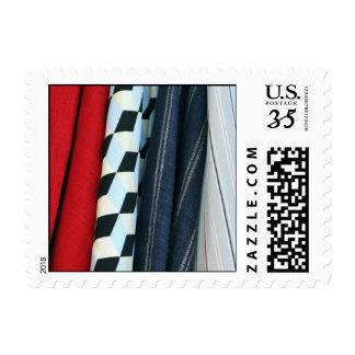5 telas con los modelos geométricos - pequeños sello postal