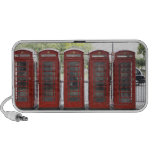 5 telephone boxes in London Notebook Speaker