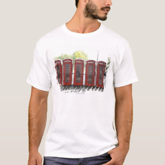 5 telephone boxes in London T-Shirt