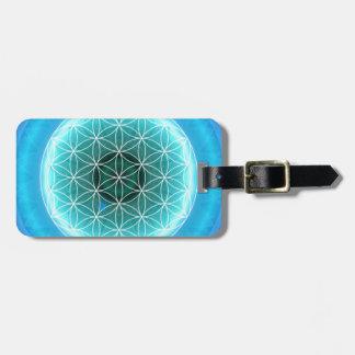 5 throat chakra lightblue created by Tutti Luggage Tag