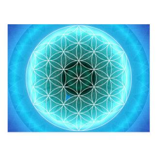 5 throat chakra lightblue created by Tutti Postcard