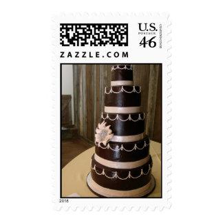 5 tiered dark chocolate wedding cake stamp