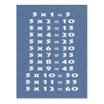 #5 Times Table Collectible Postcard
