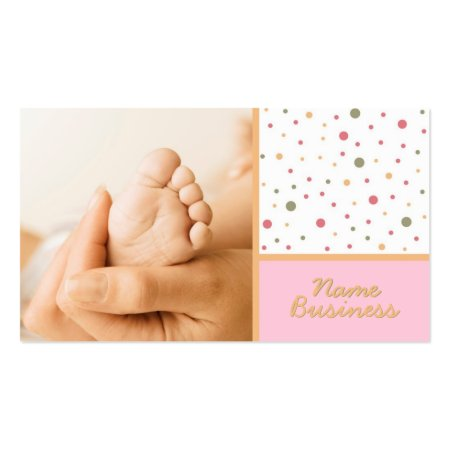 Five Toes Baby Foot Baby Related Business Cards Template