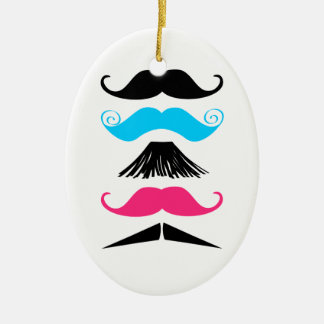 5 Trendy Mustaches Stache Ornament