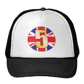 5 UK Gold Trucker Hat