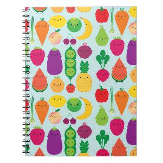 5 una fruta y verduras del día libretas