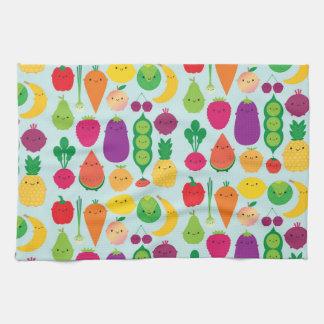 5 una fruta y verduras del día toallas de mano