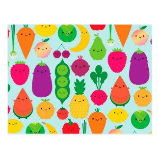 5 una fruta y verduras del día postales