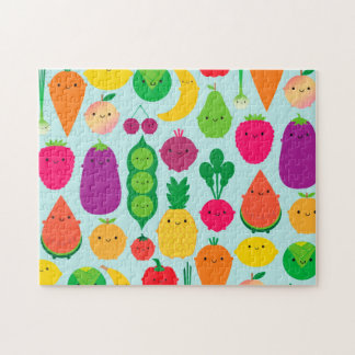 5 una fruta y verduras del día puzzle con fotos