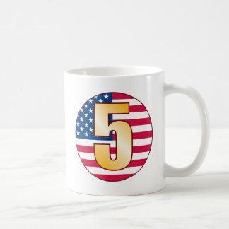 5 USA Gold Coffee Mug