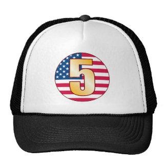 5 USA Gold Trucker Hat