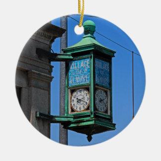 5 Village of Elmore Clock-horizontal.JPG Ceramic Ornament