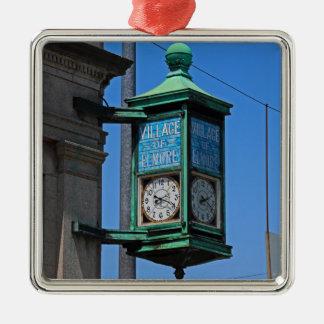 5 Village of Elmore Clock-horizontal.JPG Metal Ornament