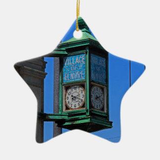 5 Village of Elmore Clock-vertical.JPG Ceramic Ornament