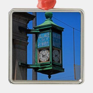 5 Village of Elmore Clock-vertical.JPG Metal Ornament