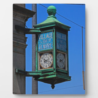 5 Village of Elmore Clock-vertical.JPG Plaque