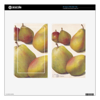 5 vintage pears illustrated decals for kindle fire