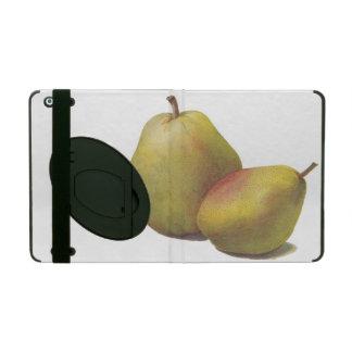 5 vintage pears illustrated iPad cover
