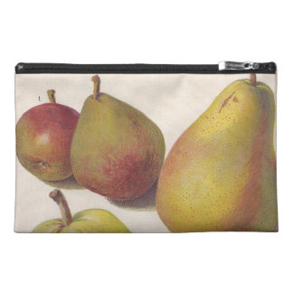 5 vintage pears illustrated travel accessory bag