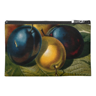 5 vintage plums painting travel accessory bag