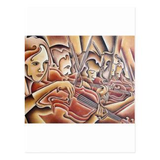 5 Violins Postcard