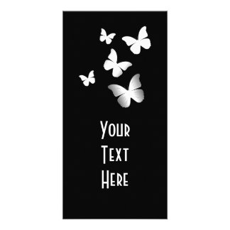 5 White Butterflies Photo Greeting Card