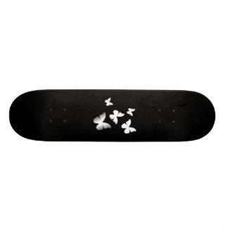 5 White Butterflies Skateboard Deck