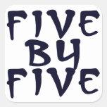 5 x 5 square sticker