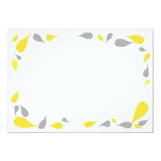 """5"""" x 7"""" amarillo y gris deja la tarjeta en blanco invitación 5"""" x 7"""""""