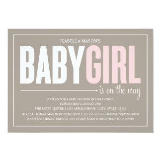 5 x 7 Baby Girl | Baby Shower Invite