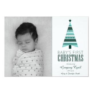 5 x 7 Baby's First Christmas Fair Isle Photo Card