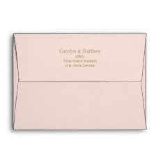 5 X 7 Blush Envelope Antique Return Address at Zazzle