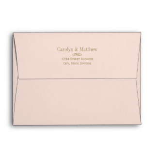 5 x 7 Blush Envelope Antique Return Address