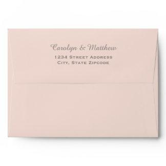 5 x 7 Blush Envelope with Gray Return Address