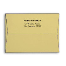 5 x 7 Champagne Gold Envelopes with Return Address