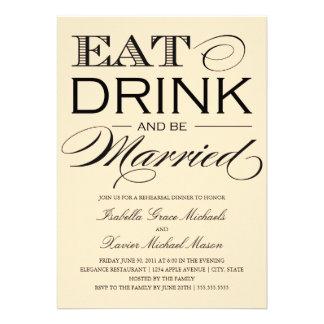 5 x 7 comen bebida y sean cena casada del ensayo