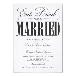 5 x 7 comen, bebida y sean cena casada del ensayo anuncios personalizados