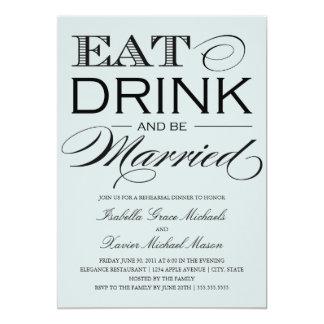 5 x 7 comen, bebida y sean cena casada del ensayo anuncio