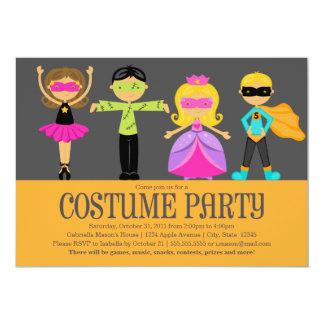 "5 x 7 Costume Party | Halloween Party Invite 5"" X 7"" Invitation Card"