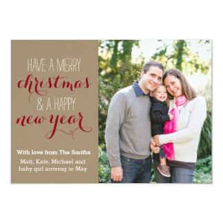 5 x 7 Crafty Christmas Holiday Photo Card