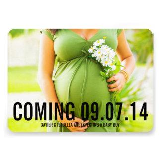 5 x 7 Custom Text Pregnancy Announcement