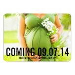 "5 x 7 Custom Text | Pregnancy Announcement 5"" X 7"" Invitation Card"