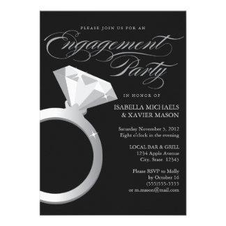 5 x 7 el fiesta de compromiso del anillo de compro comunicados