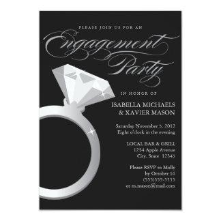 5 x 7 el fiesta de compromiso del anillo de invitación 12,7 x 17,8 cm