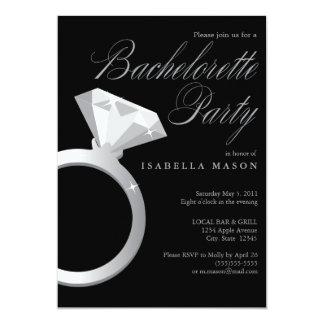 5 x 7 el fiesta del anillo de compromiso | invitación