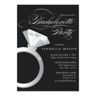 5 x 7 el fiesta del anillo de compromiso | comunicados personalizados