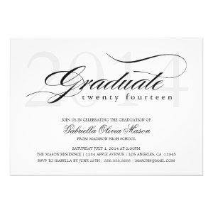 5 x 7 Elegant Graduate | Graduation Party Invite