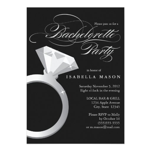 5 x 7 Engagement Ring | Bachelorette Party Invite